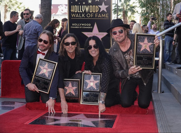 Maná recibe una estrella en el paseo de la fama de Hollywood