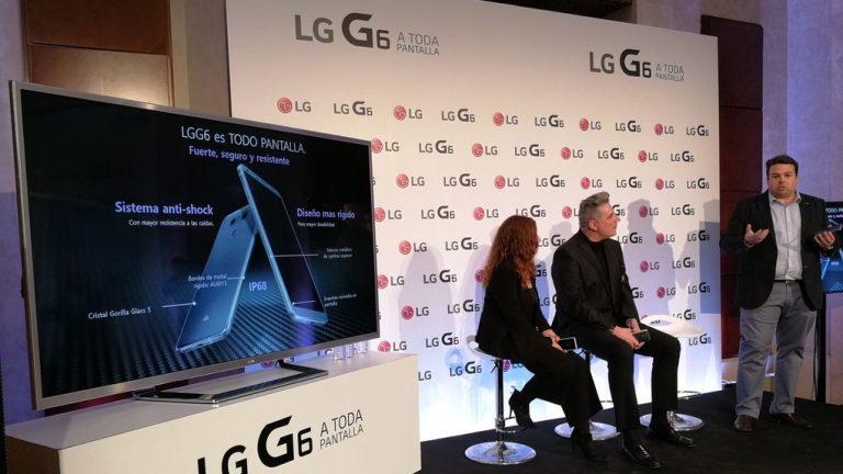 LG presenta su nuevo smartphone LG G6 de la mano de Loquillo