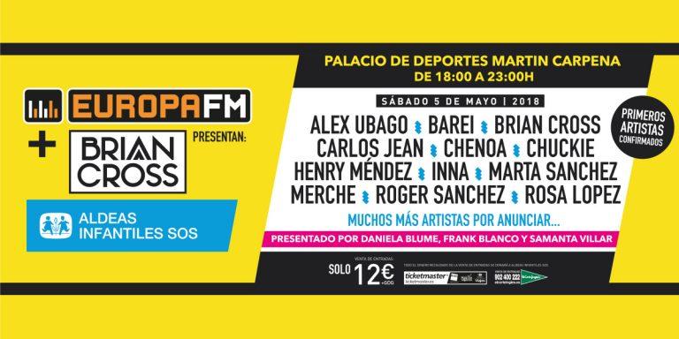 """Nace """"El Festival Solidario"""" de Europa FM + Brian Cross"""