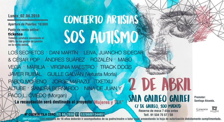 """""""SOS Autismo"""": Más de 15 artistas se unen para combatir el autismo"""