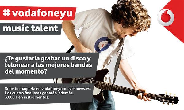 Arranca una nueva edición del Vodafone Yu Music Talent